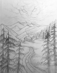 Porter's Hollow Book Cover Art - Sketch - Work in Progress
