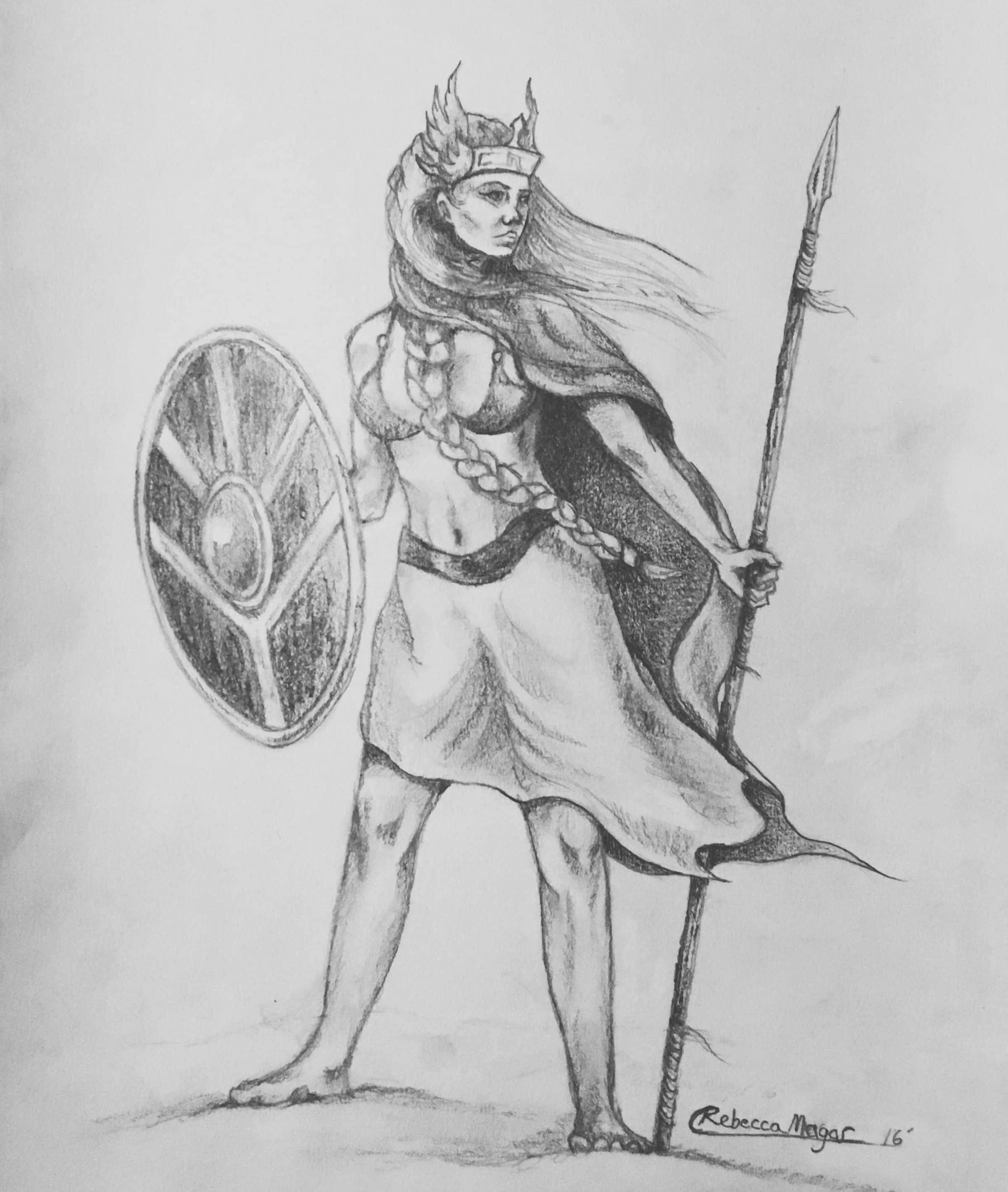Geirskögul Valkyrie Sketch by Rebecca Magar