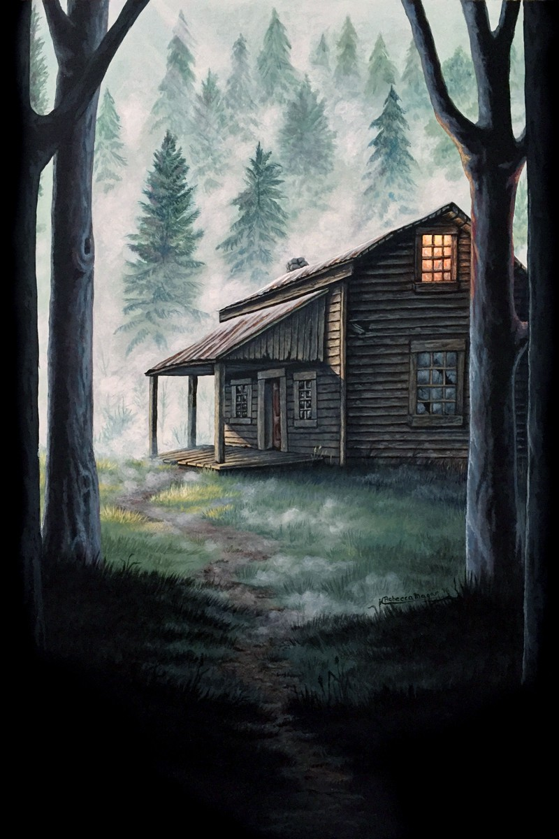 Porter's Hollow Book Cover Art - Acrylic on Illustration Board by Rebecca Magar