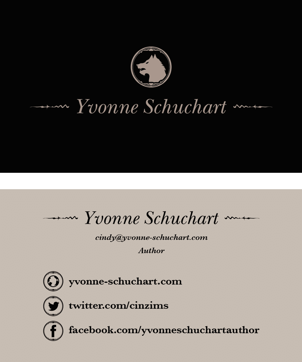 Yvonne Schuchart Business Card Design