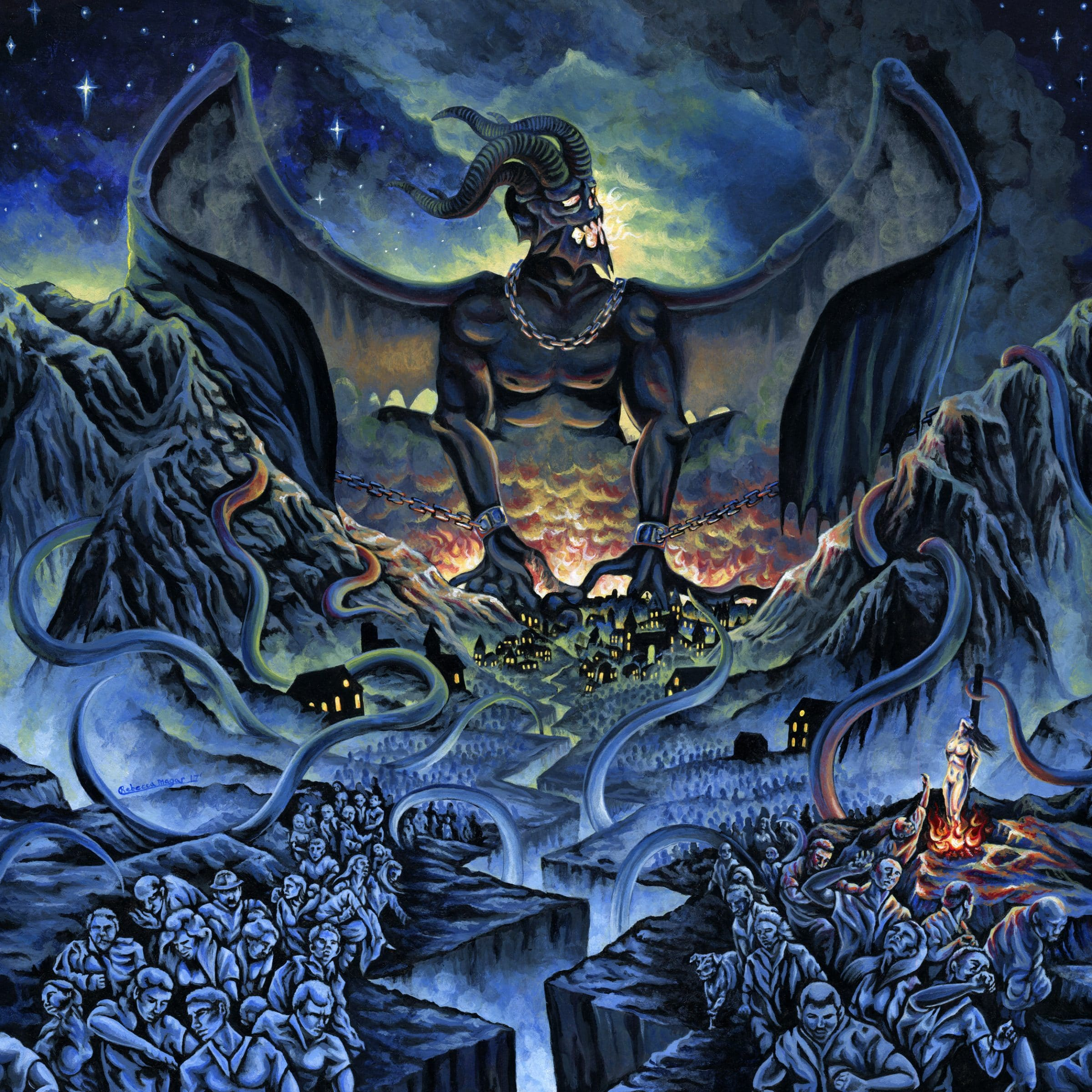 Kingdom of Fear Album Cover Artwork for Wrath of Typhon by Rebecca Magar