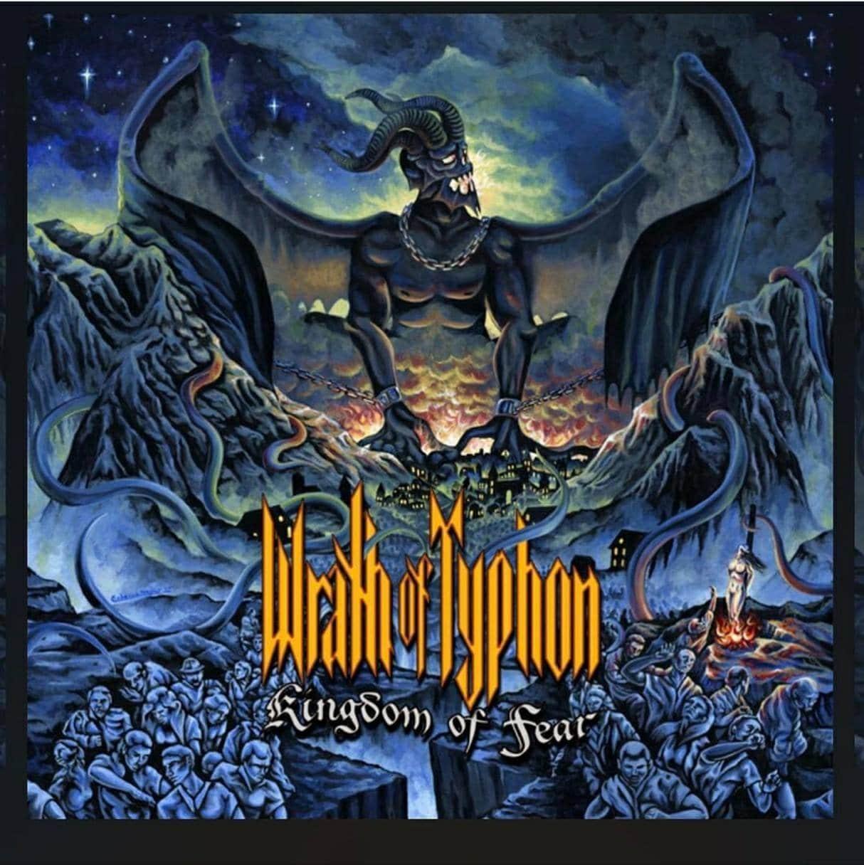 Wrath of Typhon - Kingdom of Fear Album Cover Artwork by Rebecca Magar