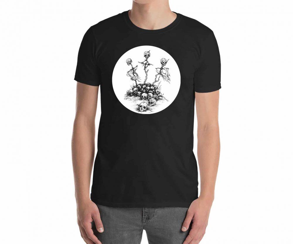 Skulls on Crosses Shirt - Wailing Wizard