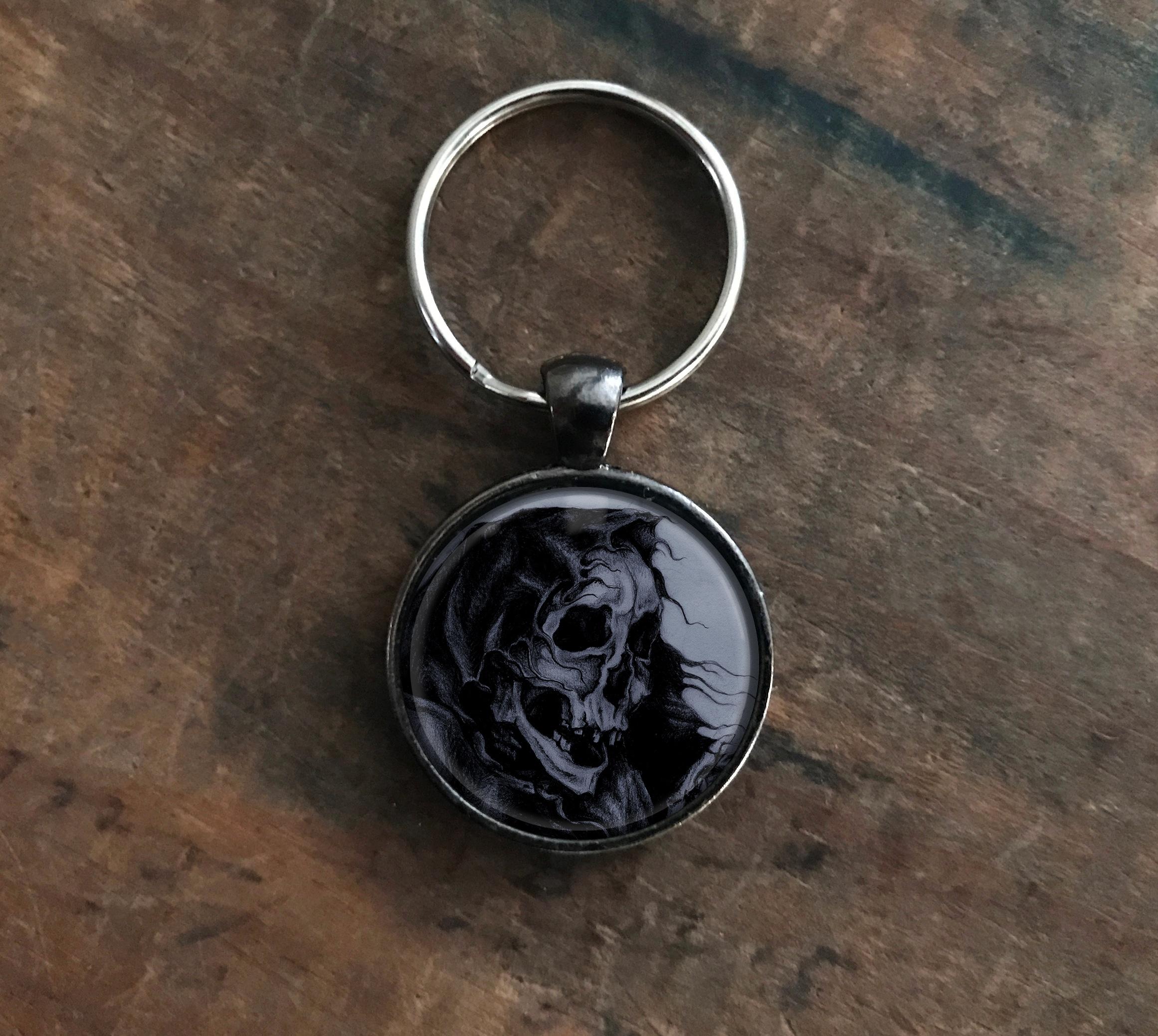 Black Skeleton Keychain