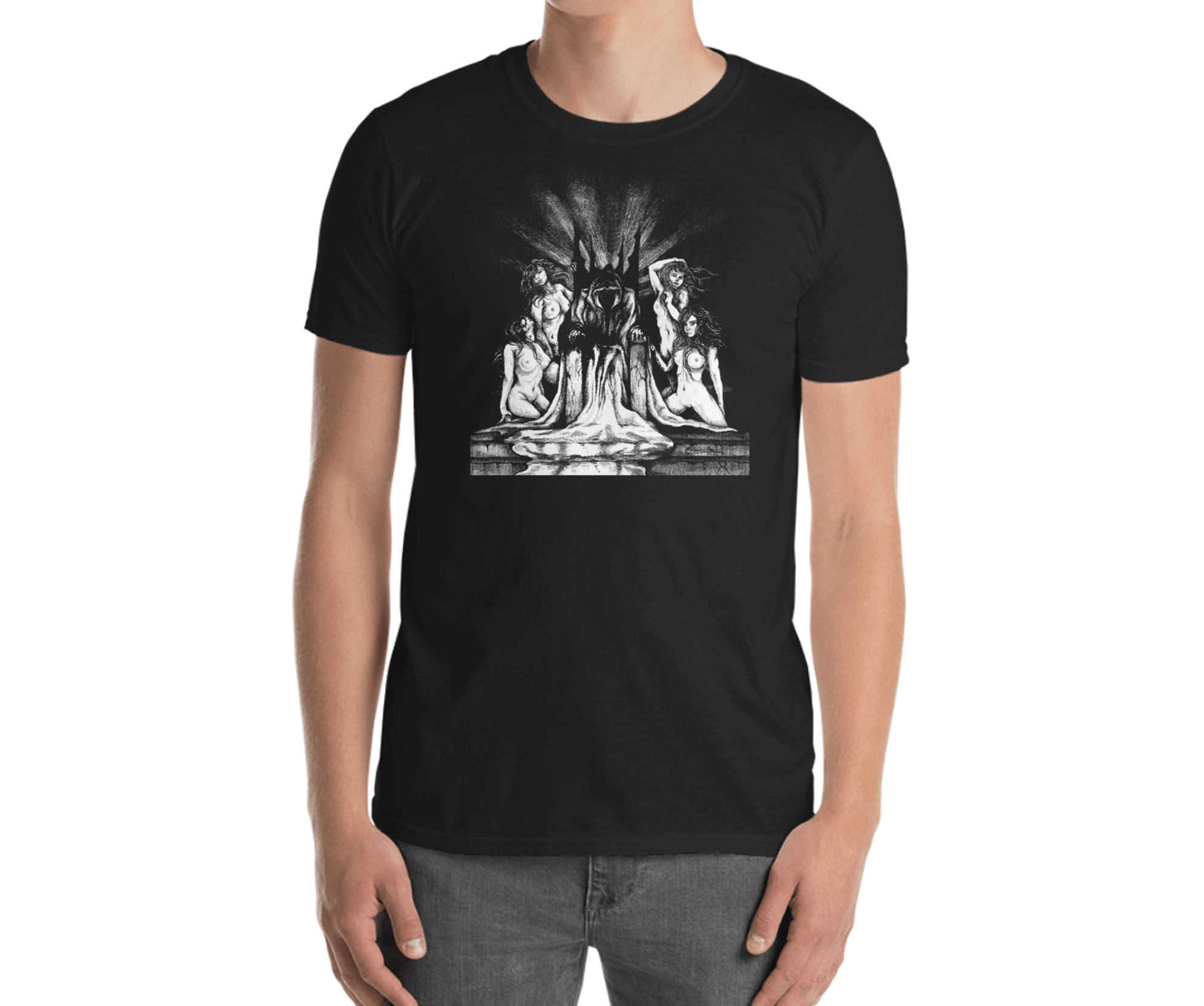 Evil King with Sexy Women T-Shirt