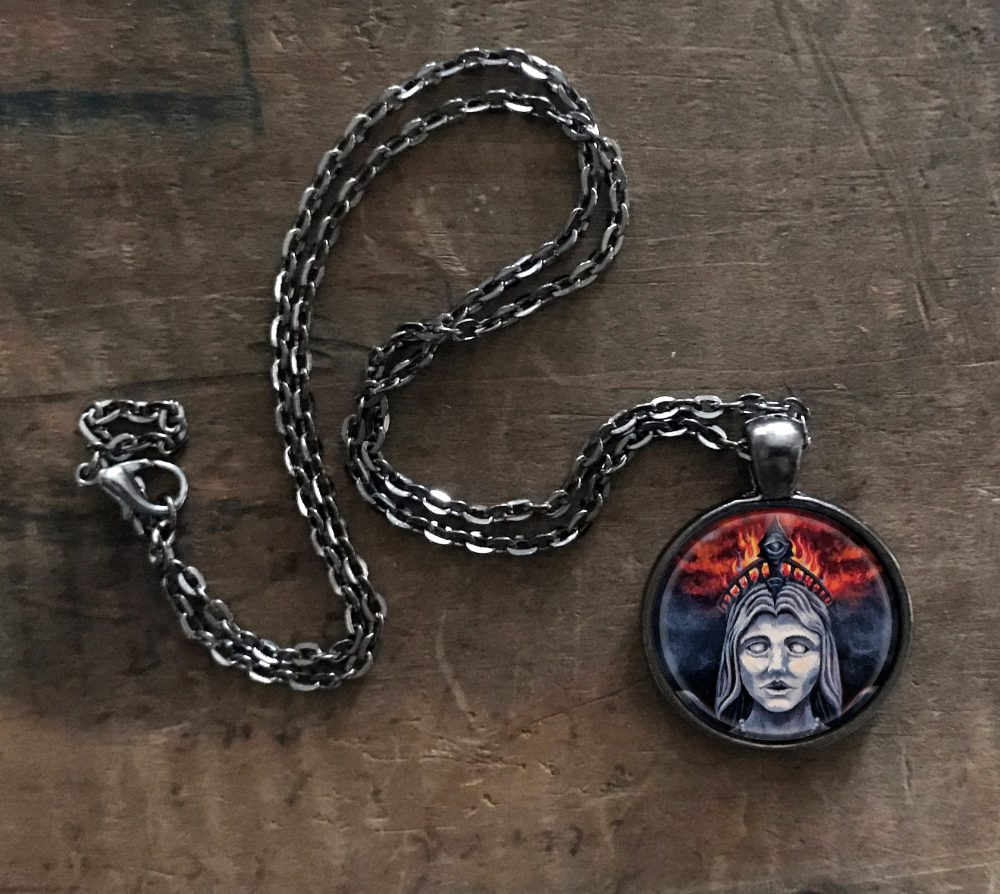 Isis With Third Eye Pendant Necklace