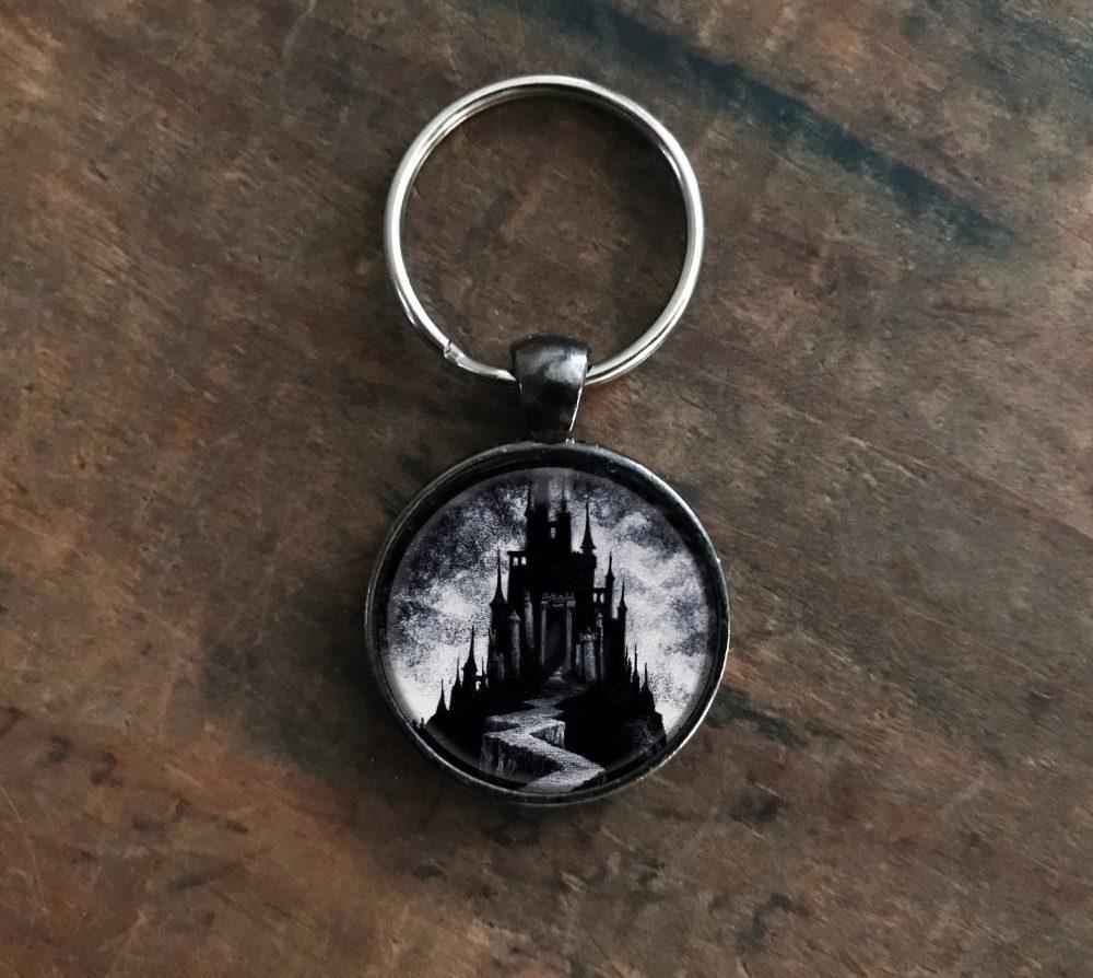 Dark Castle Pendant Keychain