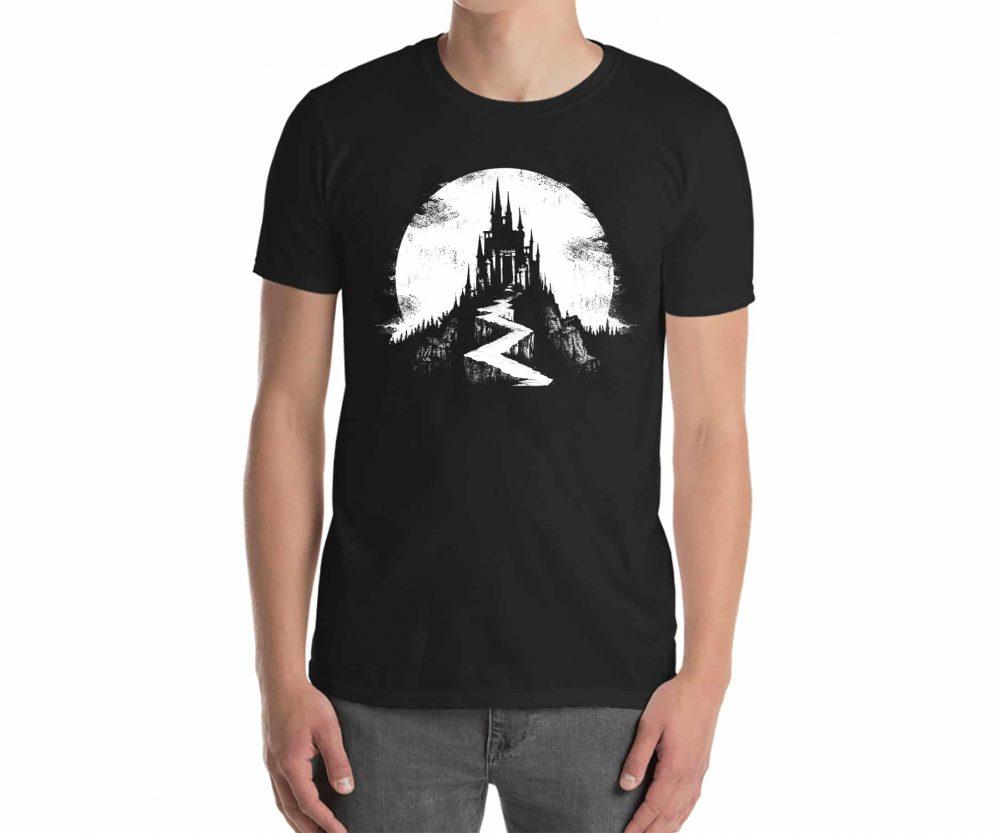 Black Castle T-Shirt - Wailing Wizard