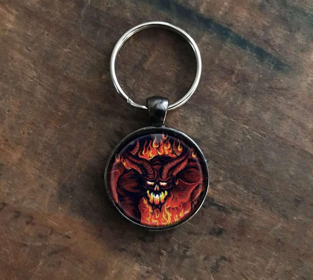 Demon Pendant Keychain