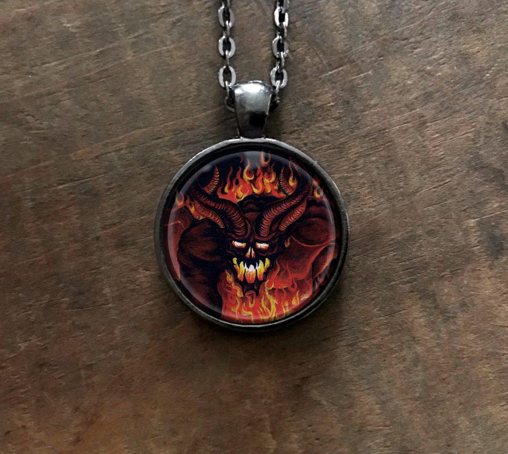 Demon Pendant Necklace