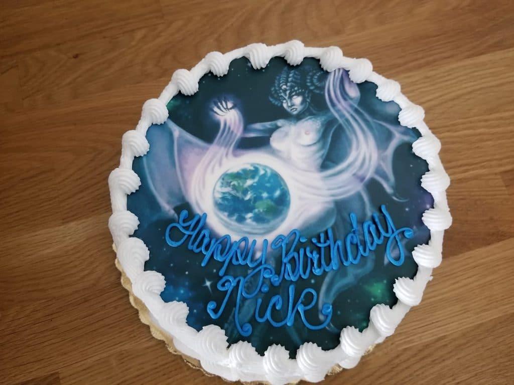 Artwork on a Birthday Cake