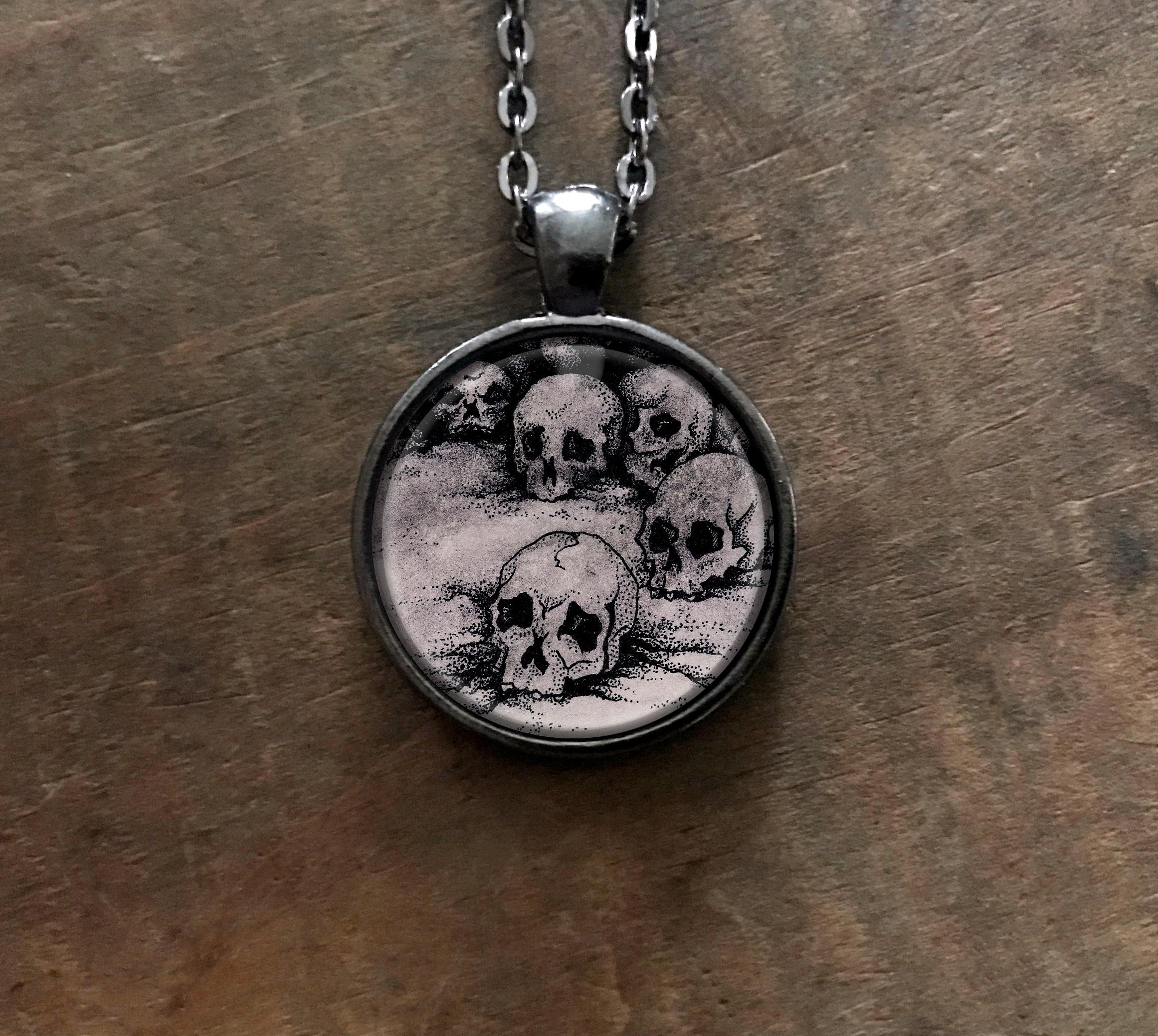 Skulls Pendant Necklace