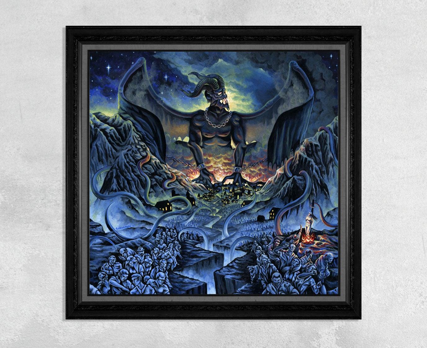 Demon Monster Attacking a Kingdom Print by Rebecca Magar