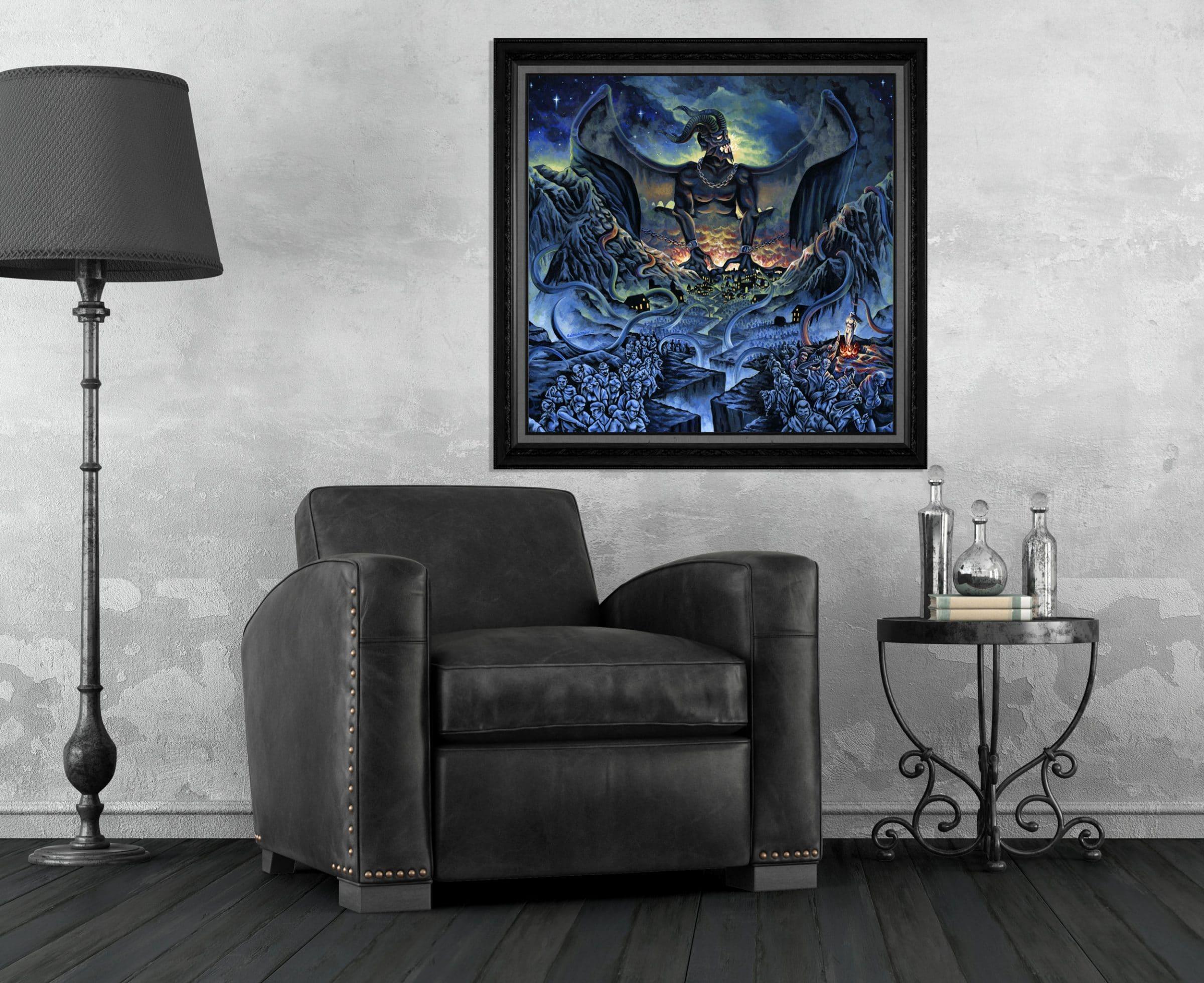 Kingdom of Fear - Demon Attacking a Kingdom Print