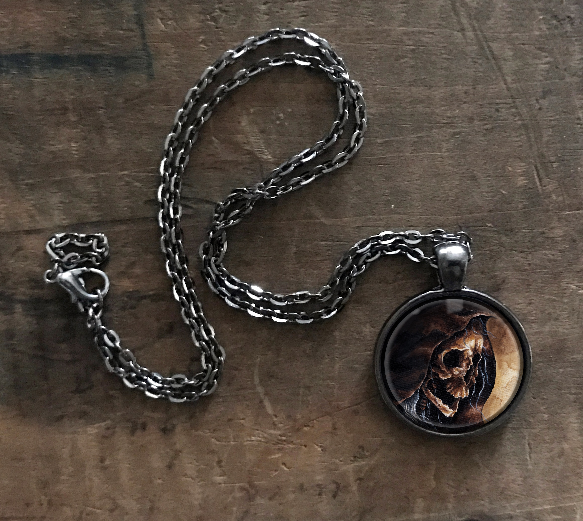 Hooded Skeleton Necklace