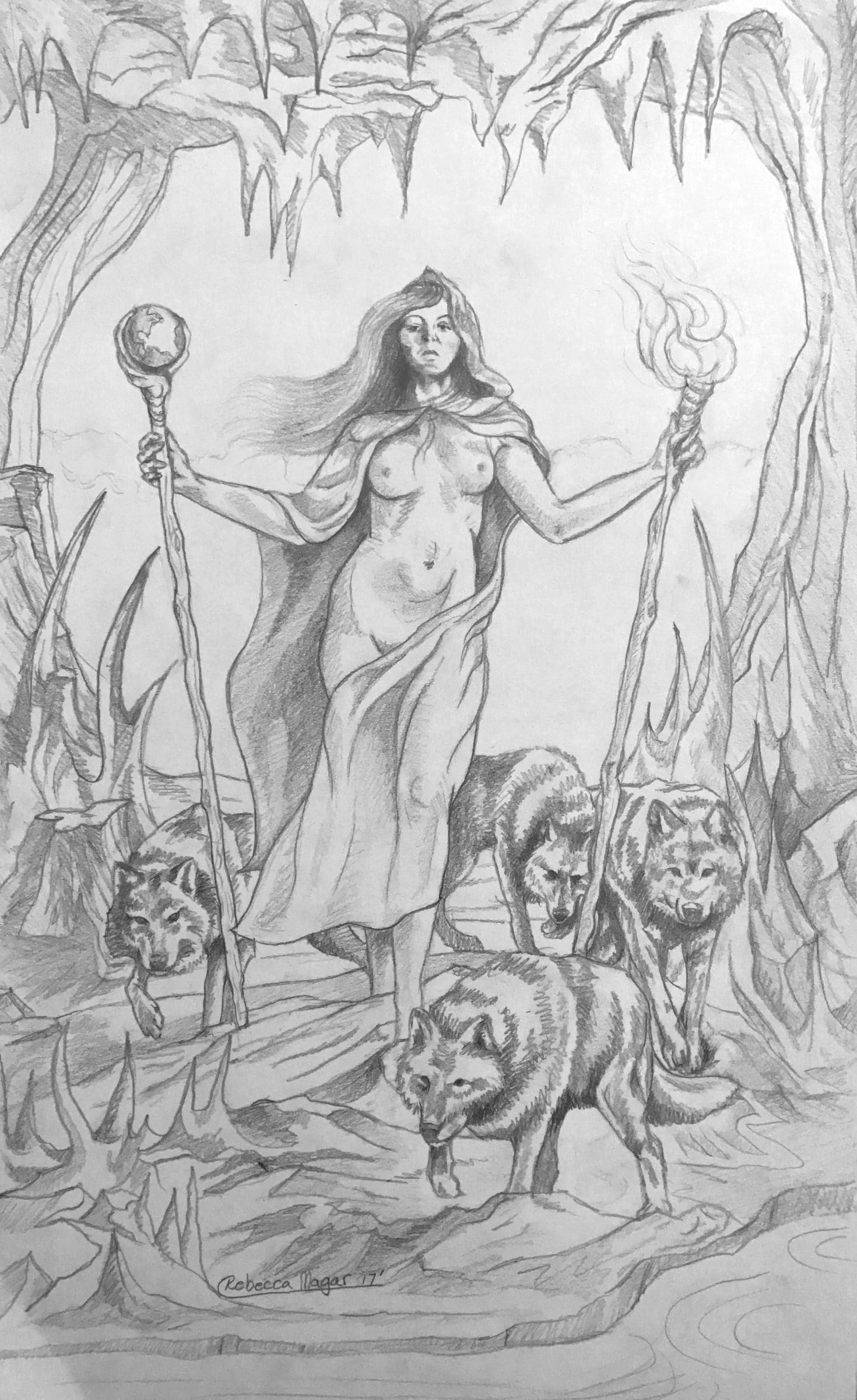 Two of Wands Sketch