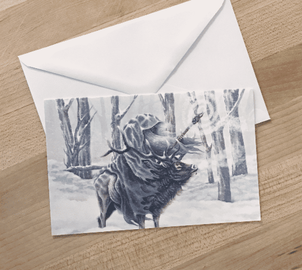 Wizard in the Snow Greeting Cards