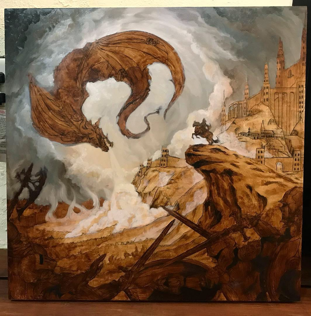 High Command - Cultic Album Cover Painting in Progress
