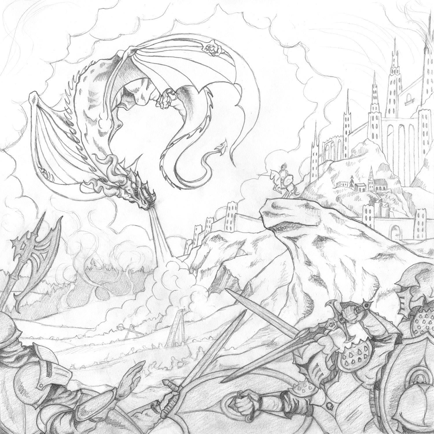 High Command - Cultic Album Cover Initial Sketch