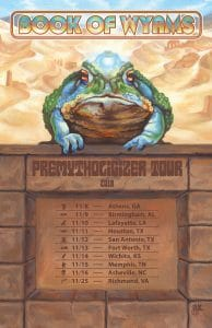 Book of Wyrms Dust Toad Tour Flyer by Wailing Wizard