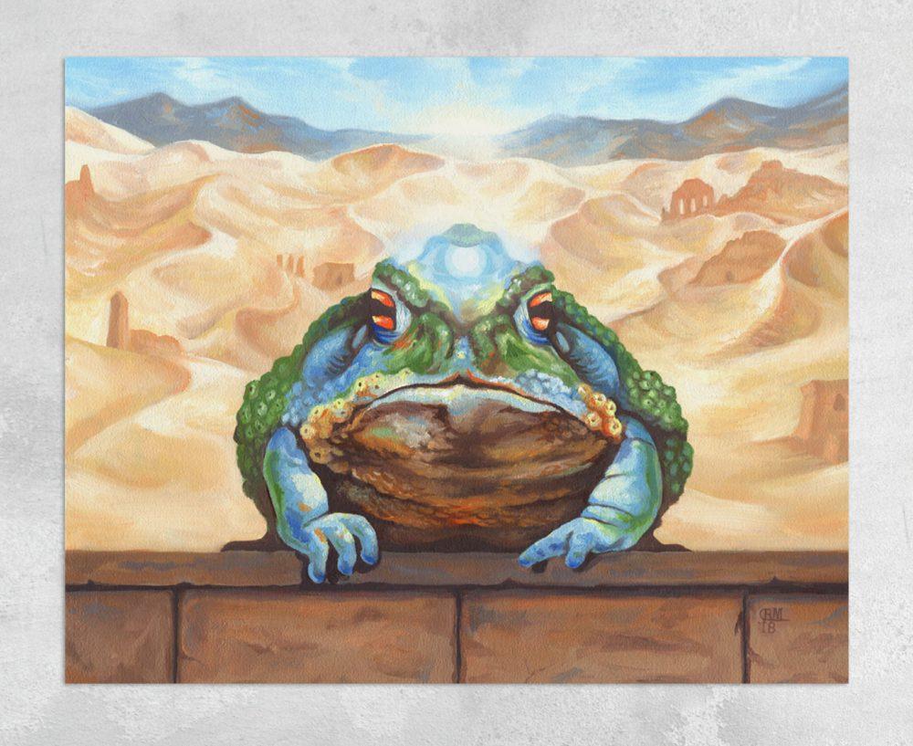 Magical Desert Toad Canvas Print by Rebecca Magar - Wailing Wizard