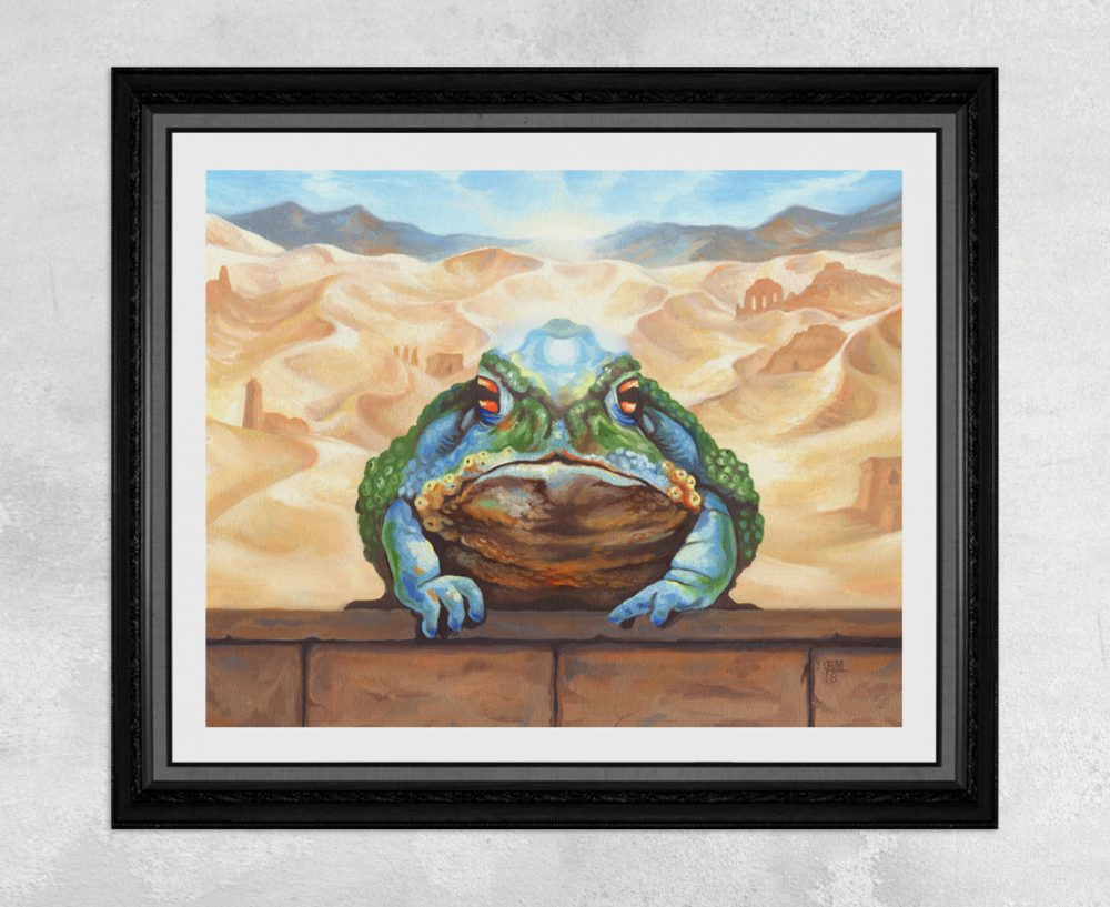 Magical Desert Toad Print by Rebecca Magar - Wailing Wizard