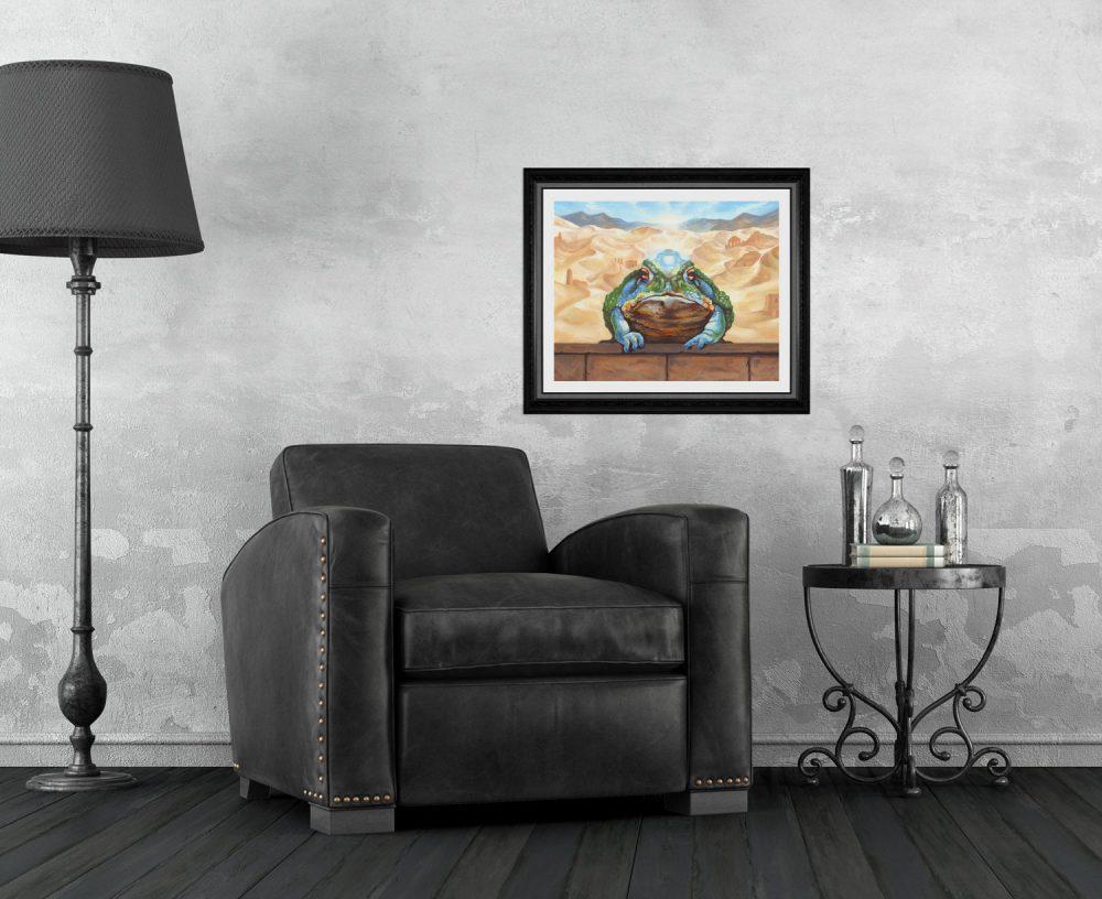 Fantasy Art Toad Print by Rebecca Magar - Wailing Wizard
