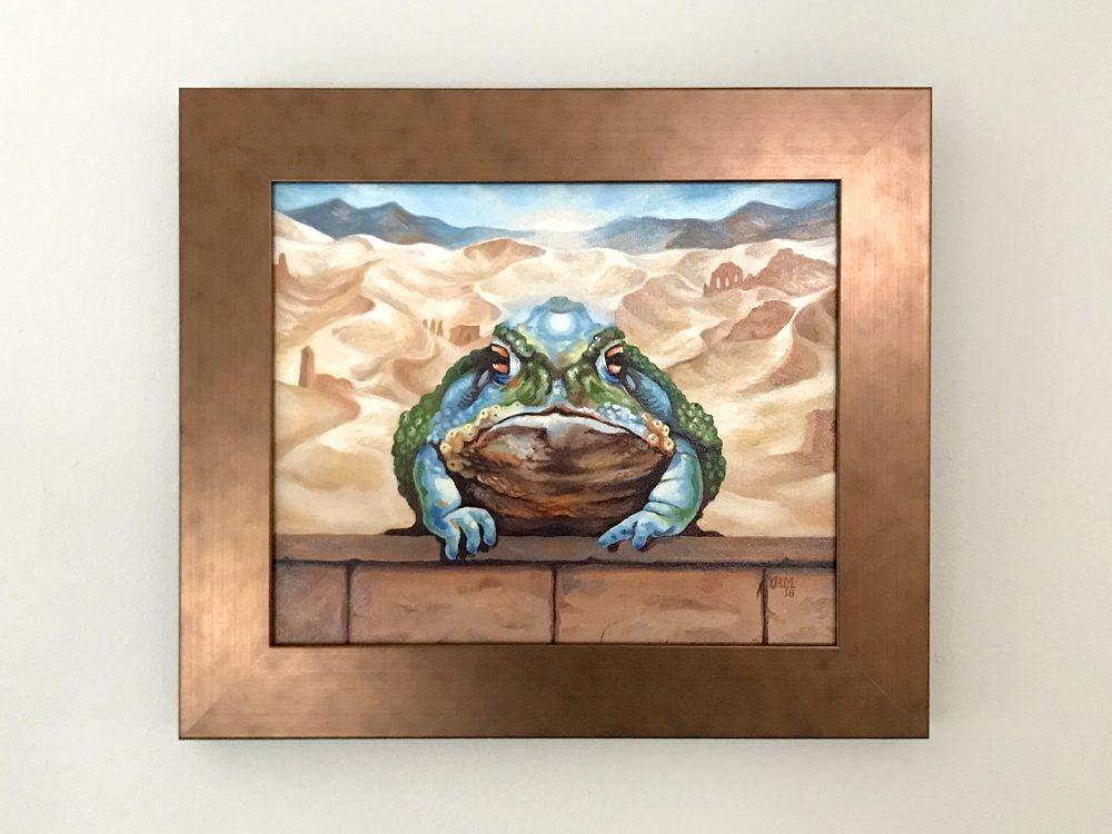 Dust Toad Original Artwork by Rebecca Magar - Wailing Wizard