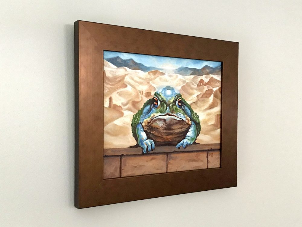 Dust Toad Oil Painting by Rebecca Magar - Wailing Wizard