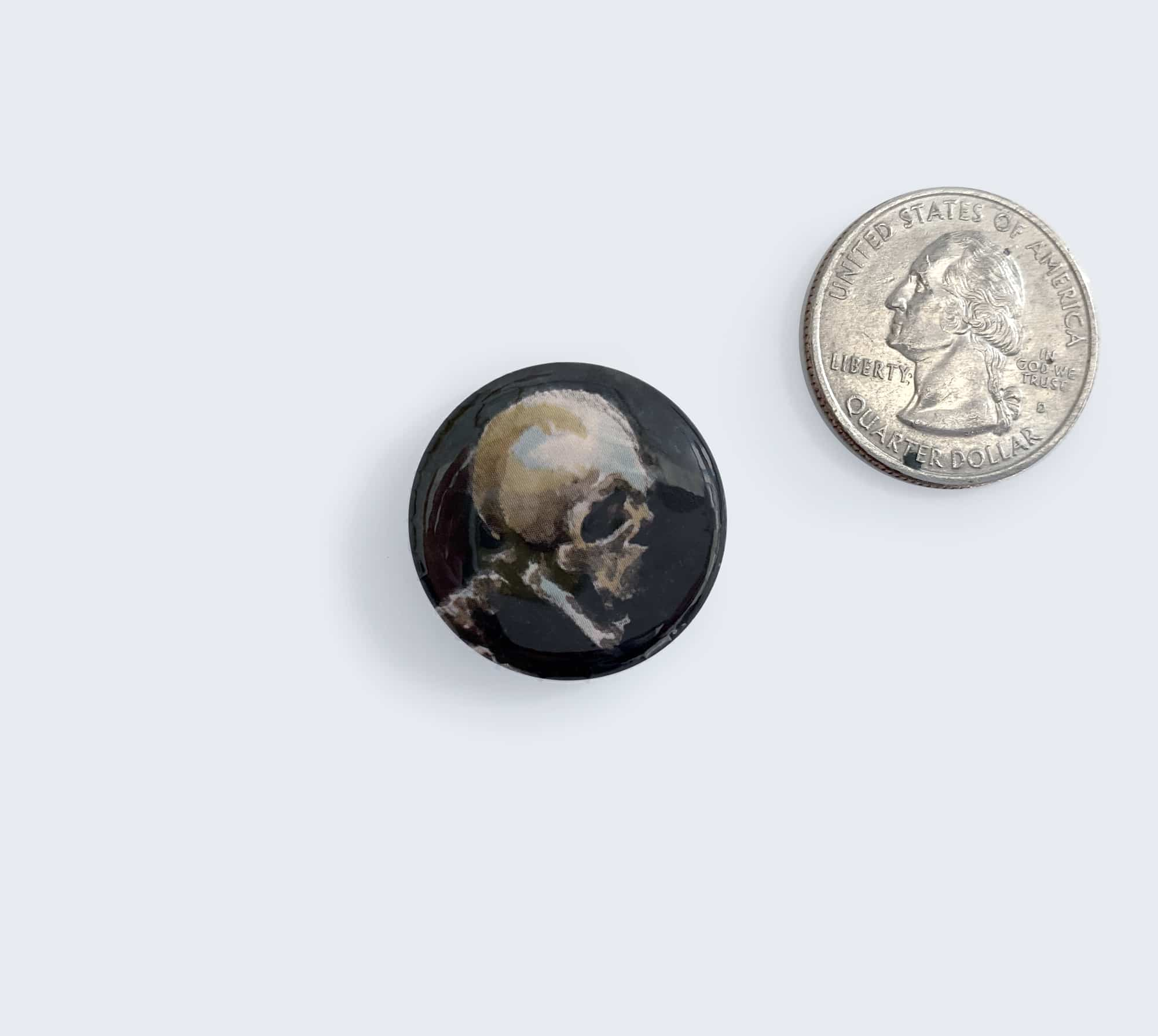Skull Button - Pin Artwork by Wailing Wizard