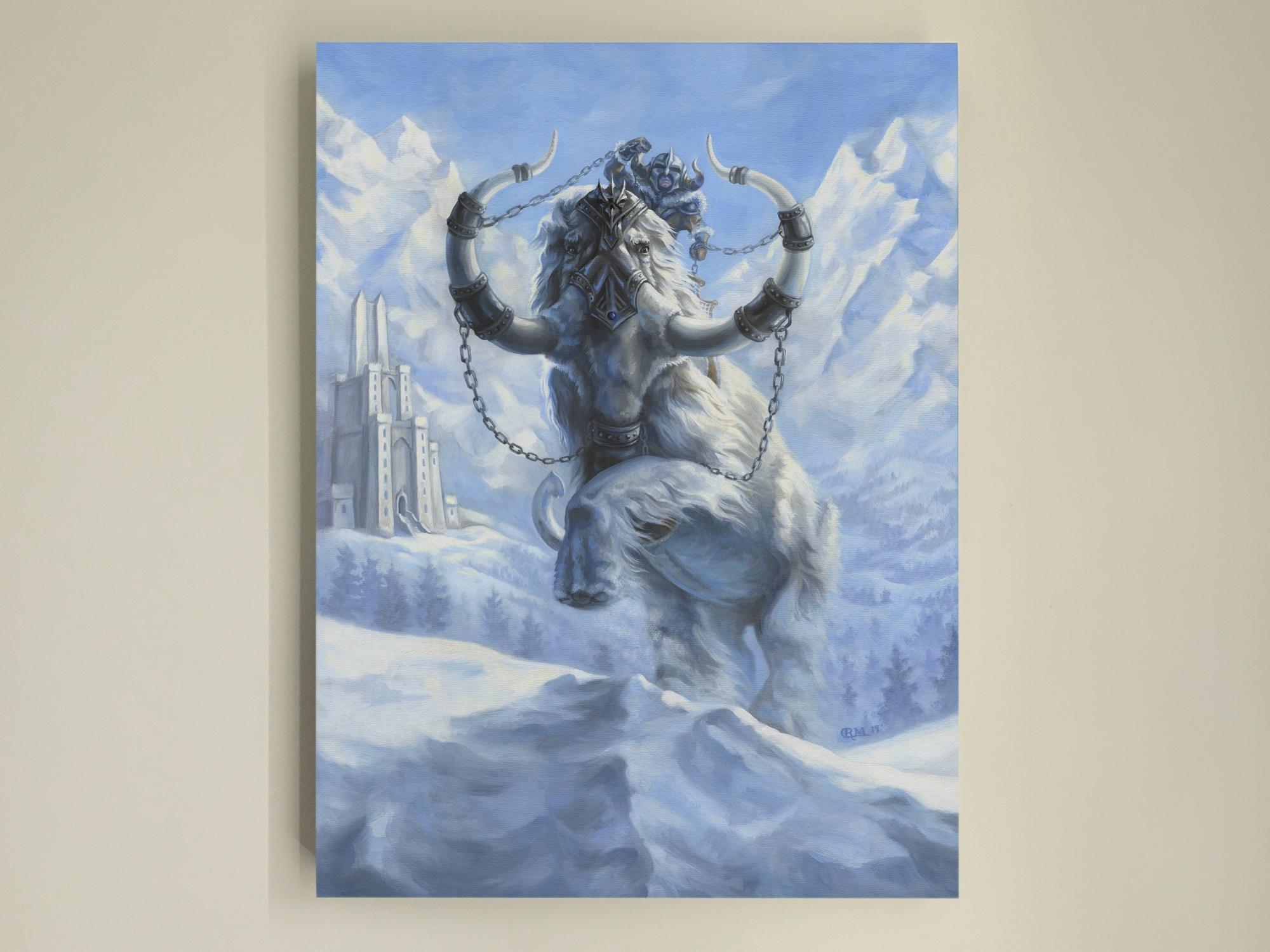 War Mammoth Painting by Rebecca Magar - Wailing Wizard